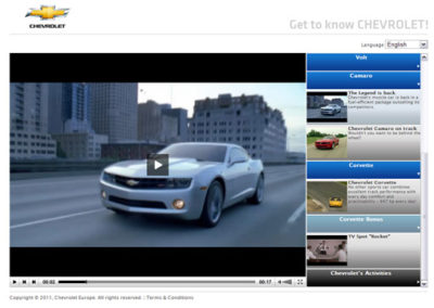 Chevrolet – behind the scenes – Website