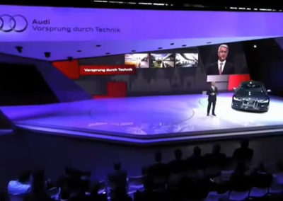 Audi press conference at the Motor Show Paris