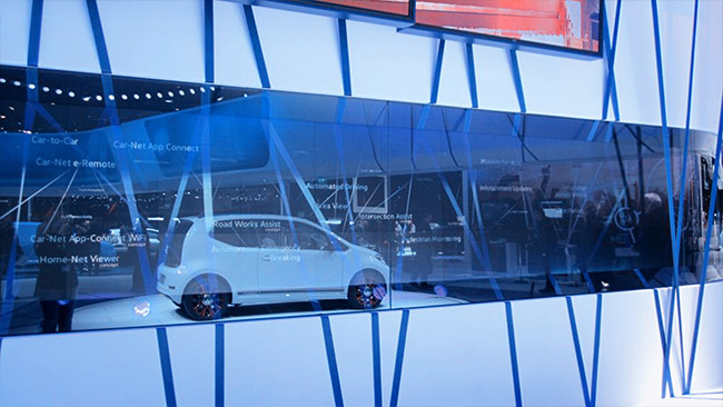 VW Booth at Geneva Auto Show
